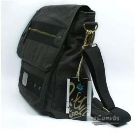 Dark grey Messenger purse