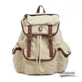 Military backpack beige