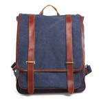 Leather canvas daypack, canvas backpack for women