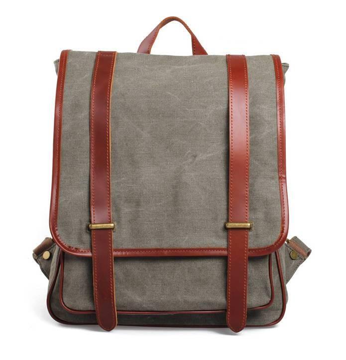 1df40dd61304 ... army green canvas backpack ...