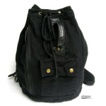 BLACK Casuel canvas backpack