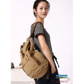 Casuel canvas backpack KHAKI