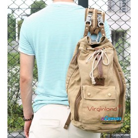 Casuel canvas backpack KHAKI FOR MEN