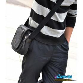 Canvas shoulder bag black for men