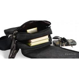 mens black business sling bag