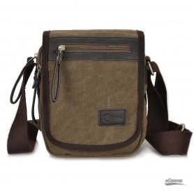 Canvas shoulder bag coffee