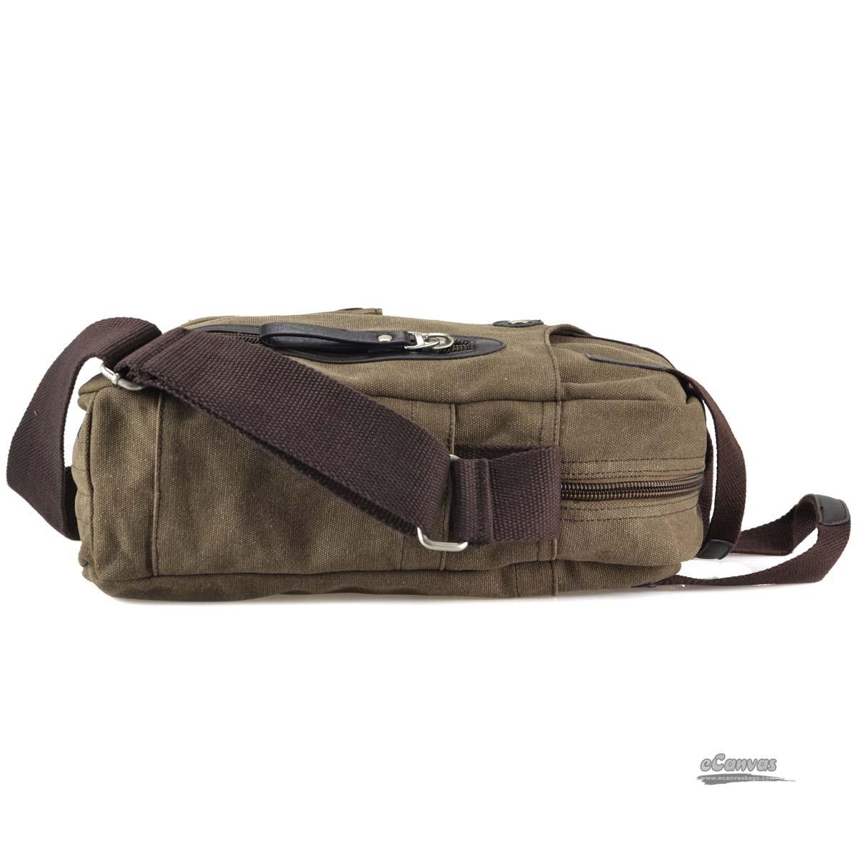 Retro Business Bagcanvas Messenger Bags For Men Khaki Coffee - E-CanvasBags