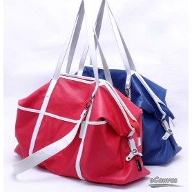 Canvas messenger bag, water proof couples bag, blue,red