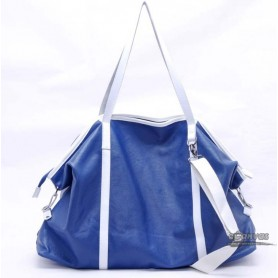 Canvas messenger bag blue for men