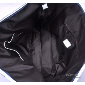 Canvas messenger bag blue for women