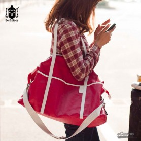 red  water proof couples bag for women
