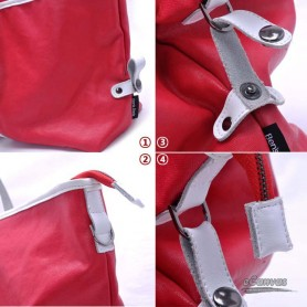 womens red  water proof couples bag