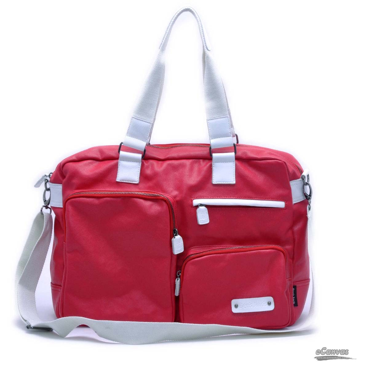 Cross body bag, lovers school bag, coated canvas tote, blue, red ...