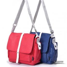 Couples canvas shoulder bag, gift for lover, blue, red