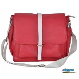 Couples canvas shoulder bag red