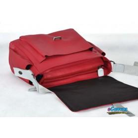 lovers canvas shoulder bag red