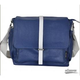 Couples canvas shoulder bag blue