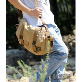 Mens messenger yellow