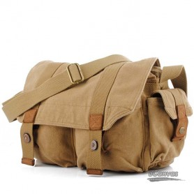 mens retro canvas bag  khaki