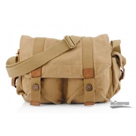 retro canvas bag khaki