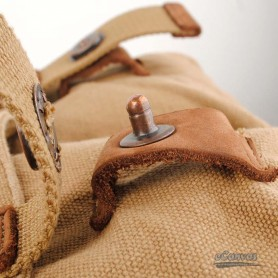 retro canvas bag khaki for men