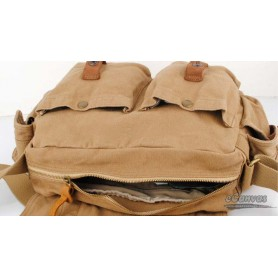 retro canvas bag khaki boys