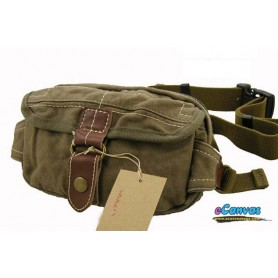 army green retro waist pack for men