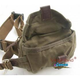 army green retro waist pack