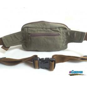 retro waist pack for men green