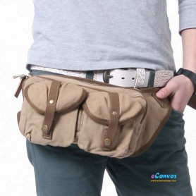 Fashion fanny pack, small waist pack, black, khaki