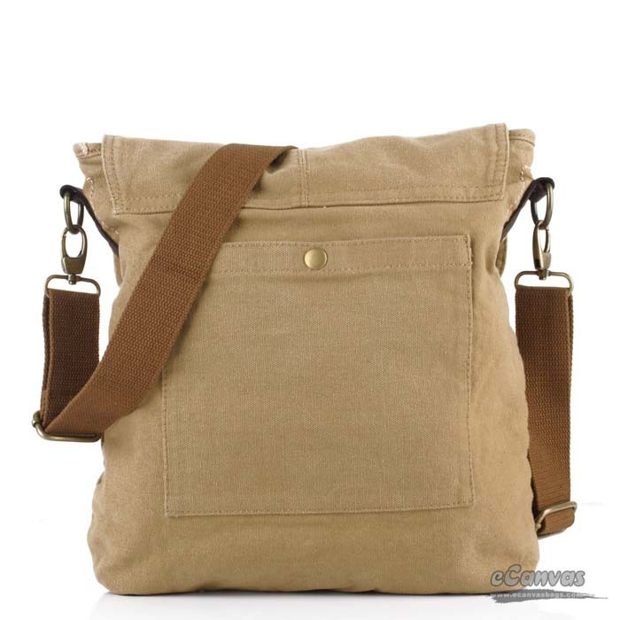 Khaki Mens School Book Bag