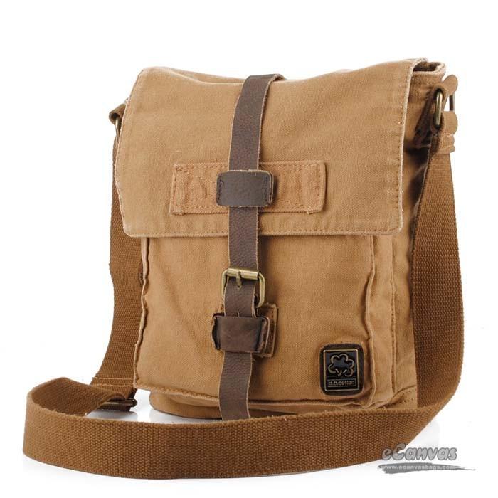 Cool messenger bag, khaki best messenger bag - E-CanvasBags
