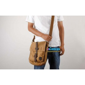Cool messenger bag khaki for women