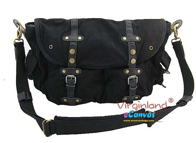 Black Messenger School Bag