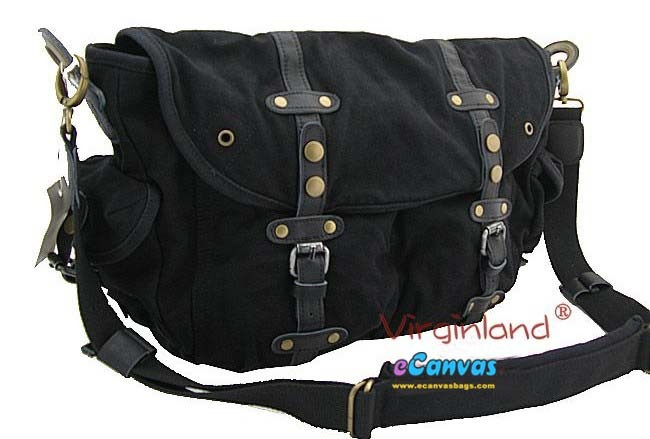 ... black messenger school bag for men ... 13f55820df091