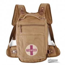 2011 Khaki Canvas shoulder bags, retro backpack for men and women