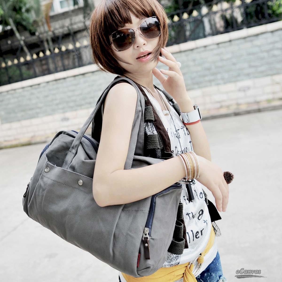 Canvas satchel grey  Canvas satchel grey for women ... 8c6b99bc30f96