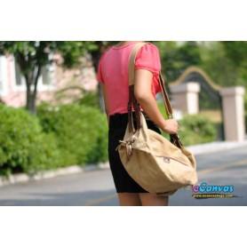 ladies Womens messenger bag khaki
