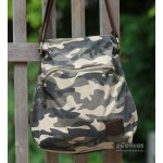Camo canvas bag for women