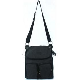 Canvas messenger bag black