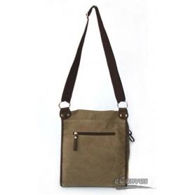 ladies Canvas messenger bag coffee
