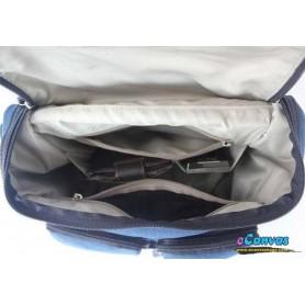 womens Canvas messenger bag blue