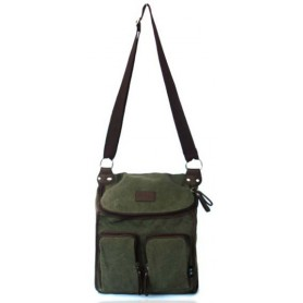 Canvas messenger bag army green