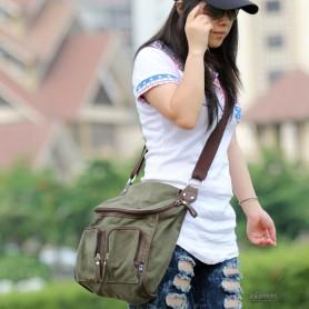 Canvas messenger bag for ladies