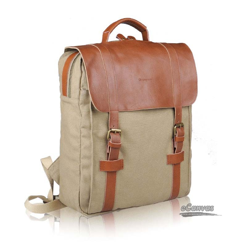 Canvas travel computer backpack - E-CanvasBags ede43852711