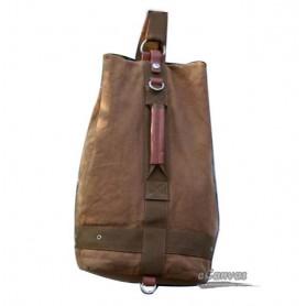 Canvas school backpack yellow
