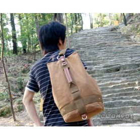 Canvas school backpack mens