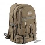 canvas traveling laptop backpack khaki
