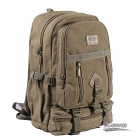 canvas traveling laptop backpack khaki