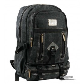 canvas traveling laptop backpack black